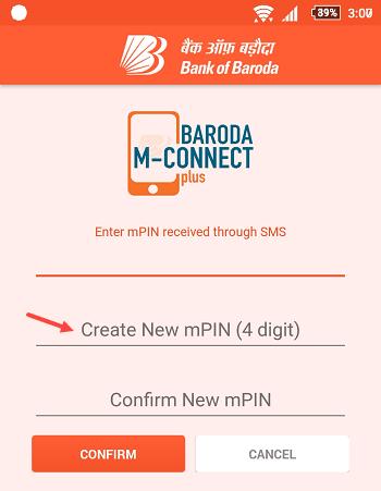 Bank of Baroda M-Connect Mobile Banking
