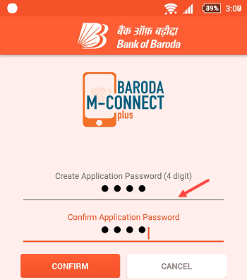 Bank of Baroda M-Connect Mobile Banking Password