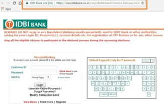 IDBI Bank Net Banking Login