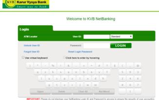 KVB Net Banking