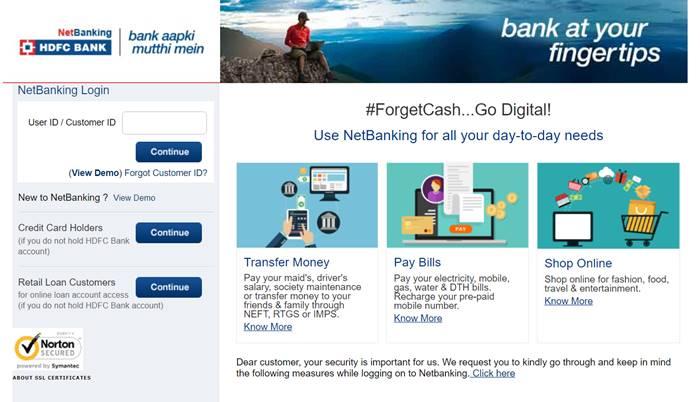 netbanking hdfc bank