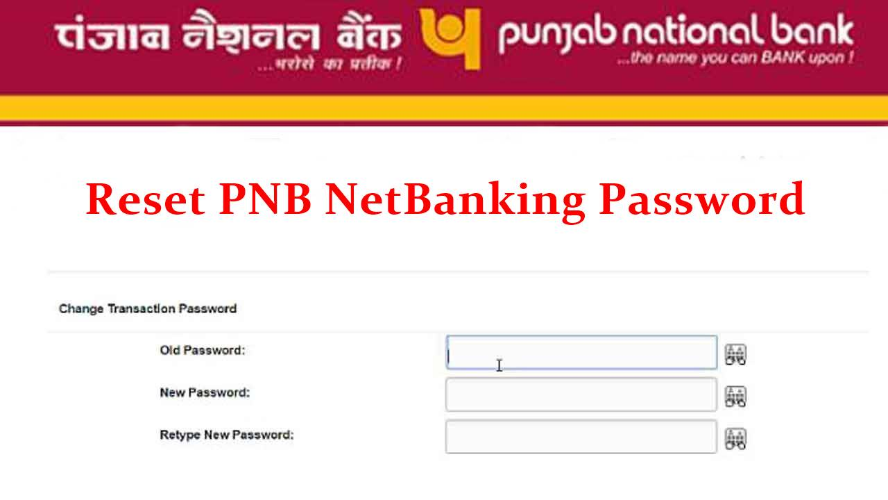 regenerate pnb netbanking password