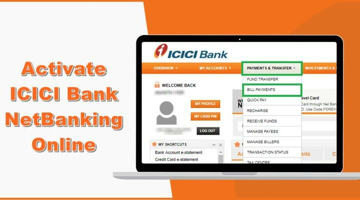activate icici bank netbanking online